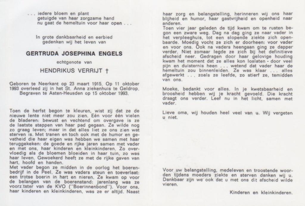 Gertruda Josephina Verrijt Engels 1915 1993